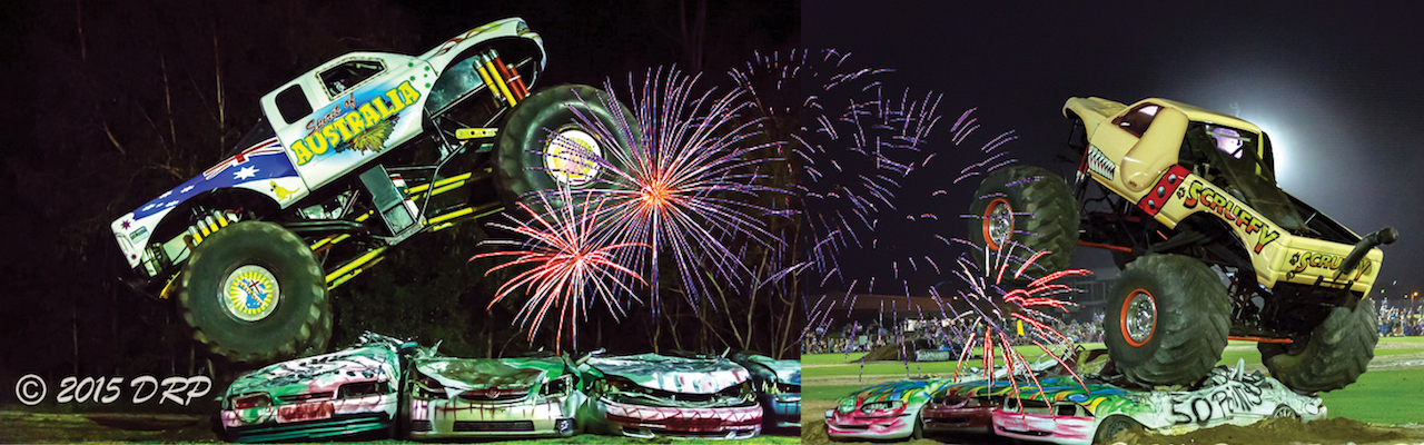Saturday only – Monster Trucks & Fireworks!