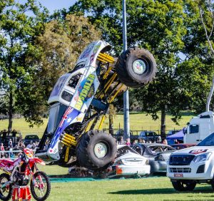 Monster Truck smashing Cars at the Gold Coast Car Show